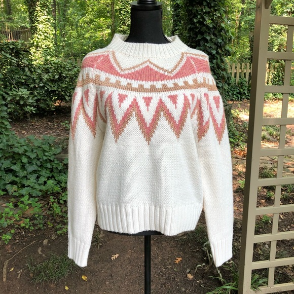silverflint Sweaters - SUPERFLINT NWT cream gold and rose gold sweater